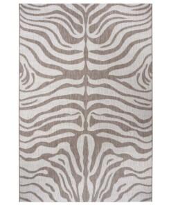 Binnen & buiten vloerkleed Zebra - lichtbruin/crème - overzicht boven