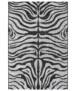 Binnen & buiten vloerkleed Zebra - grijs/zilver - overzicht boven, thumbnail