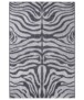 Binnen & buiten vloerkleed Zebra - zwart/crème - overzicht boven, thumbnail