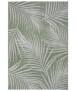 Binnen & buiten vloerkleed Tropical leaf - crème/zwart - overzicht boven, thumbnail