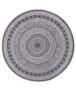 Binnen & buiten vloerkleed rond Mandala - groen/crème - overzicht boven, thumbnail