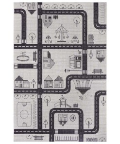 Speelkleed City Funfair - crème/zwart - overzicht boven
