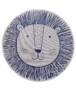 Rond kinderkamer vloerkleed Leeuw - zilver/grijs - overzicht boven, thumbnail