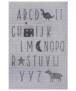 Kinderkamer vloerkleed Alfabet - crème/zwart - overzicht boven, thumbnail