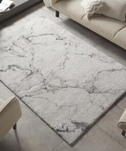 Hoogpolig vloerkleed marble Mayrin - crème/grijs - sfeer, thumbnail