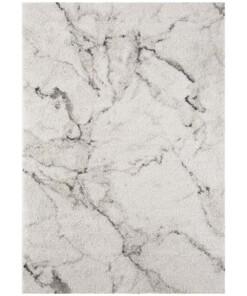 Hoogpolig vloerkleed marble Mayrin - crème/grijs - overzicht boven