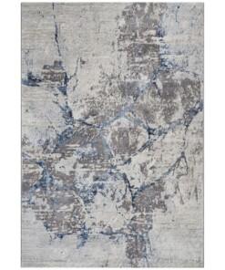 Modern vloerkleed Dayron - zilver/blauw - overzicht boven