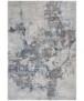 Modern vloerkleed Dayron - zilver/rood - overzicht boven, thumbnail