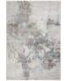 Modern vloerkleed Dayron - zilver/blauw - overzicht boven, thumbnail