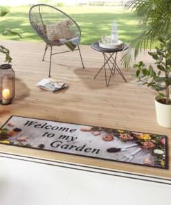 "Loper ""Welcome to my Garden"" - grijs/multi - sfeer, thumbnail"