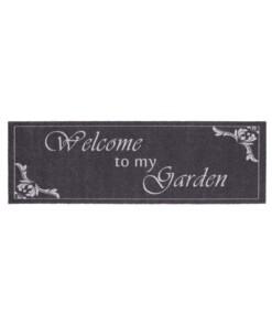 """Loper """"Welcome to my Garden"""" - grijs - overzicht boven"""