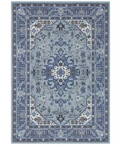 Klassiek vloerkleed Skazar Isfahan - blauw - overzicht boven