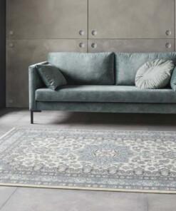 Perzisch tapijt Parun Täbriz - creme/blauw - sfeer, thumbnail
