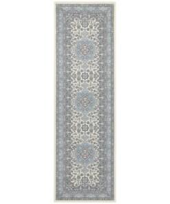 Perzische loper Parun Täbriz - crème/blauw - overzicht boven, thumbnail