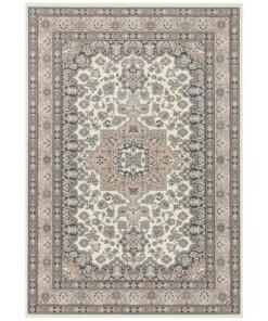 Perzisch tapijt Parun Täbriz - crème/roze - overzicht boven