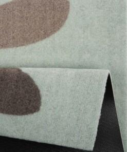 Deurmat Bunny Wasbaar 30°C - groen/bruin - close up