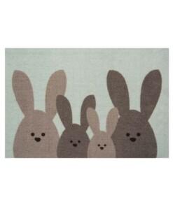Deurmat Bunny Wasbaar 30°C - groen/bruin - overzicht boven, thumbnail