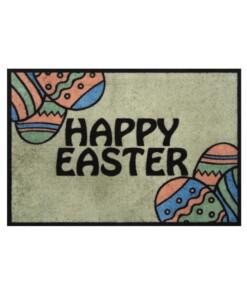 Deurmat Happy Easter Wasbaar 30°C - groen - overzicht boven, thumbnail