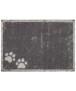 Deurmat Paws Wasbaar 30°C - antraciet - overzicht boven, thumbnail
