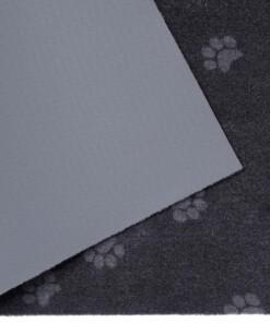 Deurmat Paws Prints Wasbaar 30°C - antraciet - close up