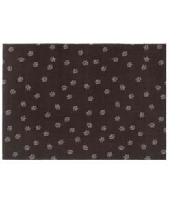 Deurmat Paws Prints xl Wasbaar 30°C - bruin - overzicht boven, thumbnail