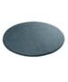 Zacht rond vloerkleed Loft - zwart - wasbaar 30°C - overzicht schuin, thumbnail