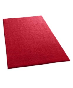 Zacht vloerkleed Loft - rood - wasbaar 30°C - overzicht schuin