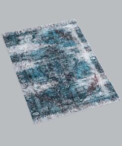 Vintage vloerkleed - Nostalgia No.2 - blauw - overzicht schuin