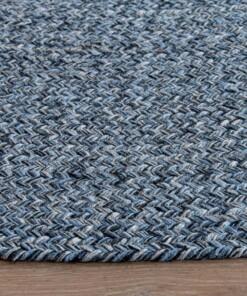 Rond vloerkleed katoen - Joy blauw
