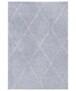 Hoogpolig vloerkleed ruiten Scandic - crème/donkergrijs - overzicht boven, thumbnail