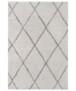Hoogpolig vloerkleed ruiten Scandic - crème/zwart - overzicht boven, thumbnail