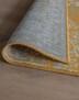 Vintage vloerkleed Joy de Vivre Pixel - groen/crème
