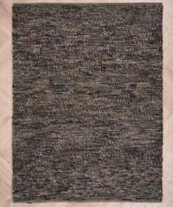 Wollen vloerkleed Lett - grijs/bruin