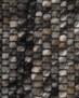 Rond wollen vloerkleed Lett - staalblauw