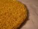 Rond hoogpolig vloerkleed shaggy Trend effen - oranje