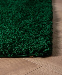Vierkant hoogpolig vloerkleed shaggy Trend effen - jade